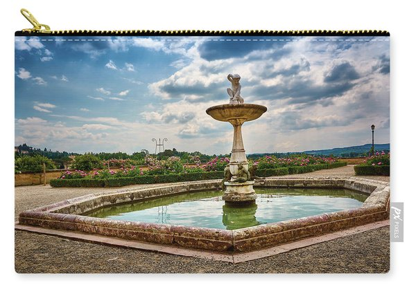 The Monkeys Fountain At The Gardens Of The Knight In Florence, Italy Carry-all Pouch