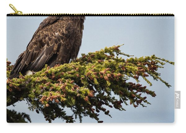Carry-all Pouch featuring the photograph Surveying The Treeline by Tim Newton