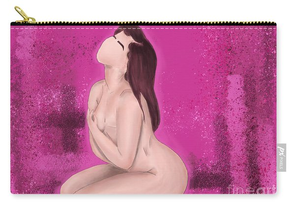 Carry-all Pouch featuring the digital art Survivor by Bria Elyce