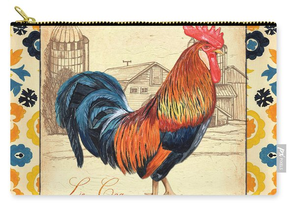 Suzani Rooster 2 Carry-all Pouch