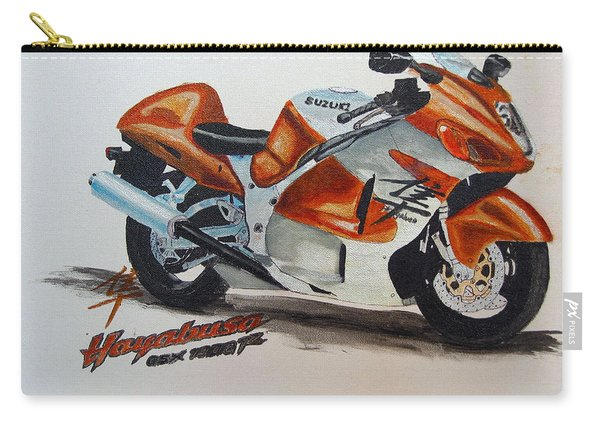 Carry-all Pouch featuring the painting Suzuki Hayabusa by Richard Le Page