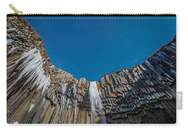 Svartifoss Waterfall, Iceland Black Carry-all Pouch