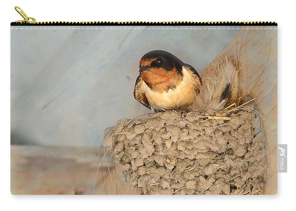 Swallow On Nest Carry-all Pouch