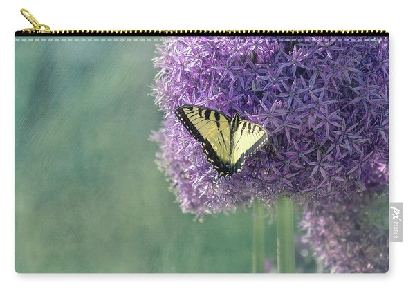 Swallowtail Butterfly In The Garden Carry-all Pouch