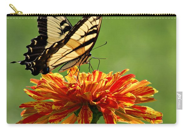 Swallowtail Butterfly - Zinnia Carry-all Pouch