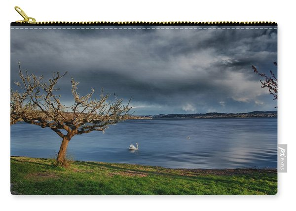 Swan And Tree Carry-all Pouch