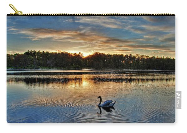 Swan At Sunset Carry-all Pouch