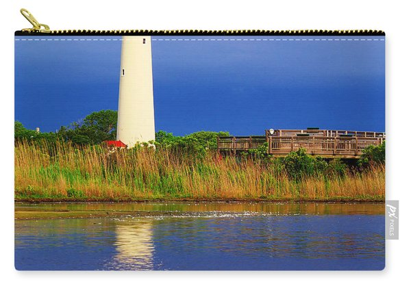 Swan At The Lighthouse Carry-all Pouch