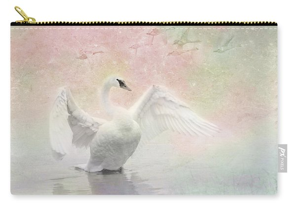 Swan Dream - Display Spring Pastel Colors Carry-all Pouch