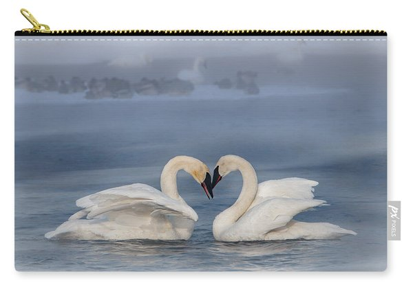 Swan Valentine - Blue Carry-all Pouch