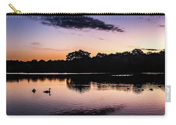 Swans At Sunrise Carry-all Pouch