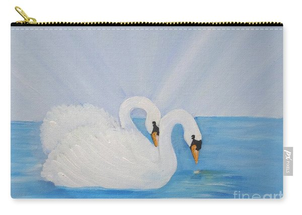 Swans On Open Water Carry-all Pouch