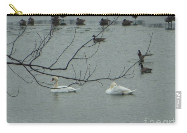 Swans With Geese Carry-all Pouch