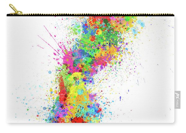 Sweden Paint Splashes Map Carry-all Pouch