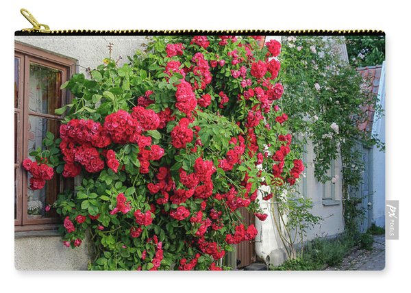 Swedish Town Visby, Famous For Its Roses Carry-all Pouch