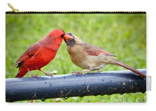 Sweet Cardinal Couple Carry-all Pouch