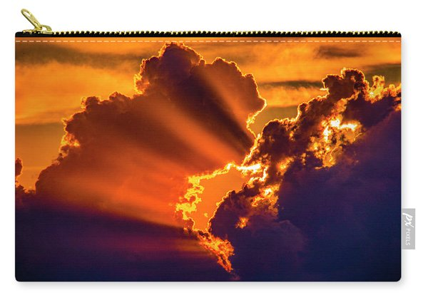 Carry-all Pouch featuring the photograph Sweet Nebraska Crepuscular Rays 010 by NebraskaSC