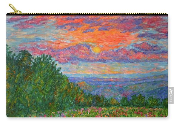 Sweet Pea Morning On The Blue Ridge Carry-all Pouch