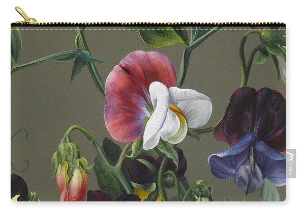 Sweet Peas And Violas Carry-all Pouch
