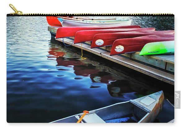 Swiftcurrent Lake And Canoes Carry-all Pouch