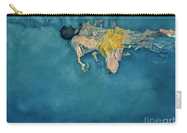 Swimmer In Yellow Carry-all Pouch