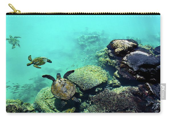 Swimming Honu Carry-all Pouch