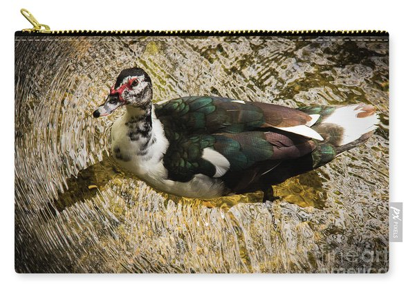 Swimming In Gold Wildlife Art By Kaylyn Franks Carry-all Pouch
