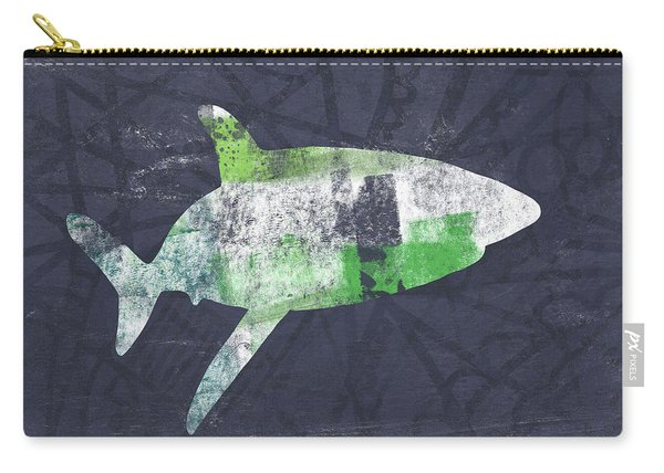 Swimming With Sharks 2- Art By Linda Woods Carry-all Pouch