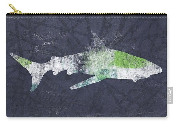 Swimming With Sharks 3- Art By Linda Woods Carry-all Pouch