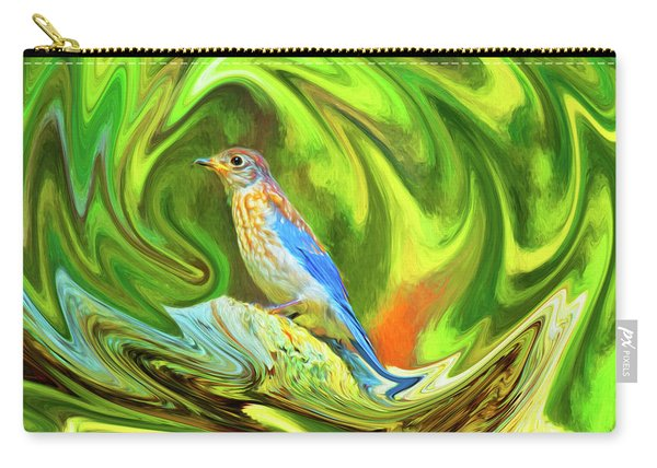 Swirling Bluebird  Carry-all Pouch