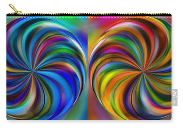 Swirling Colors Horizontal Collage By Kaye Menner Carry-all Pouch