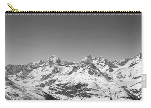 The Matterhorn And Swiss Mountains Panorama Bw Carry-all Pouch