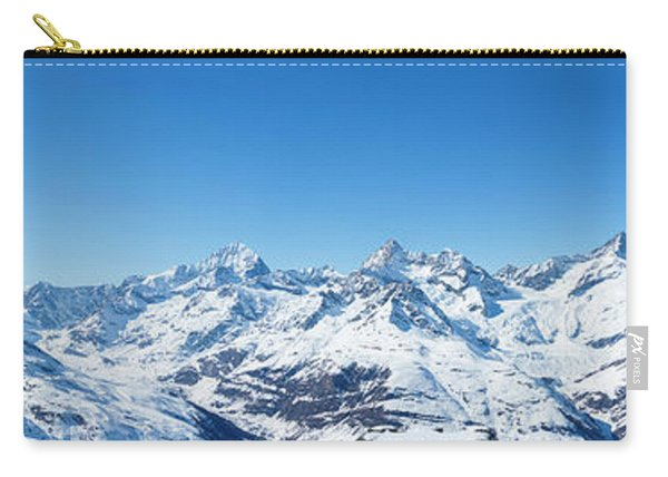 The Matterhorn And Swiss Mountains Panorama Carry-all Pouch