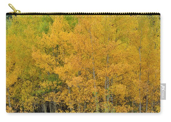 Carry-all Pouch featuring the photograph Symphony In Gold by Ron Cline