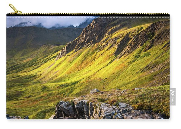 Carry-all Pouch featuring the photograph Synclavier Foothills by Tim Newton