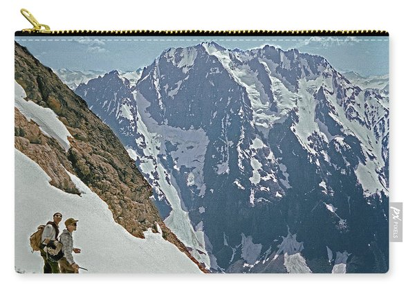 T-04402 Fred Beckey And Joe Hieb After First Ascent Forbidden Peak Carry-all Pouch