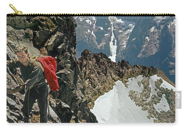 T-04403 Walt Buck Sellers On First Ascent Of Mt. Torment Carry-all Pouch