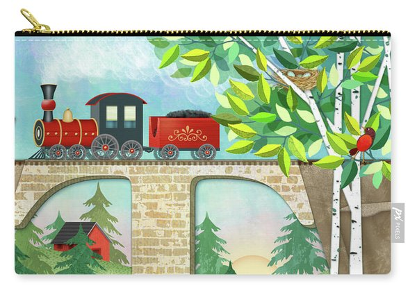 T Is For Train And Train Trestle Carry-all Pouch