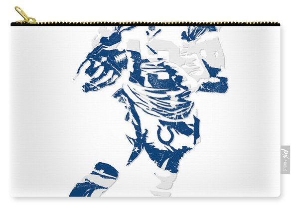 T Y Hilton Indianapolis Colts Pixel Art 1 Carry-all Pouch