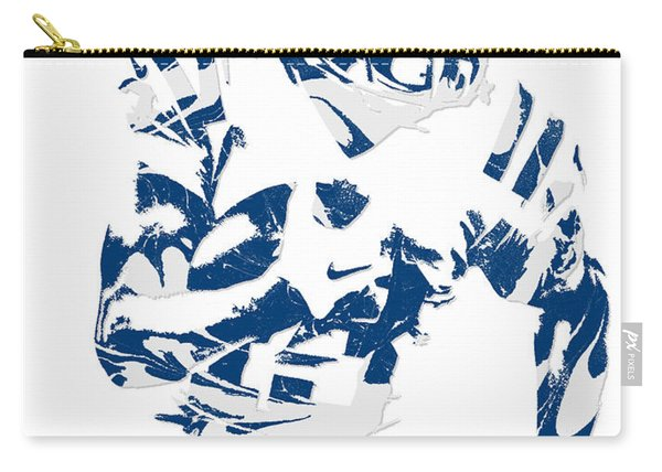 T Y Hilton Indianapolis Colts Pixel Art 3 Carry-all Pouch
