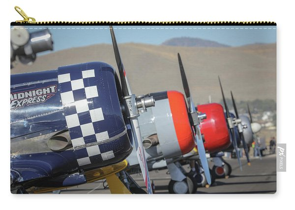 T6 Flight Line At Reno Air Races Carry-all Pouch