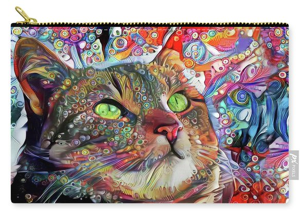 Tabby Cat Color Blast Carry-all Pouch