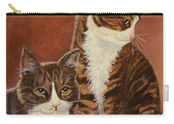 Tabby Cats Portrait Carry-all Pouch