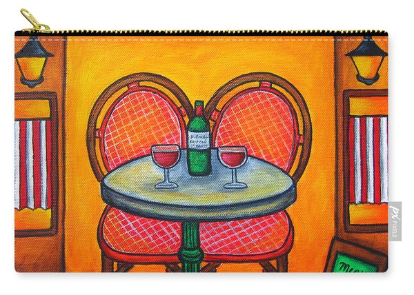 Table For Two In Paris Carry-all Pouch