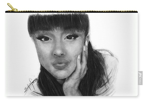 Ariana Grande Drawing By Sofia Furniel Carry-all Pouch