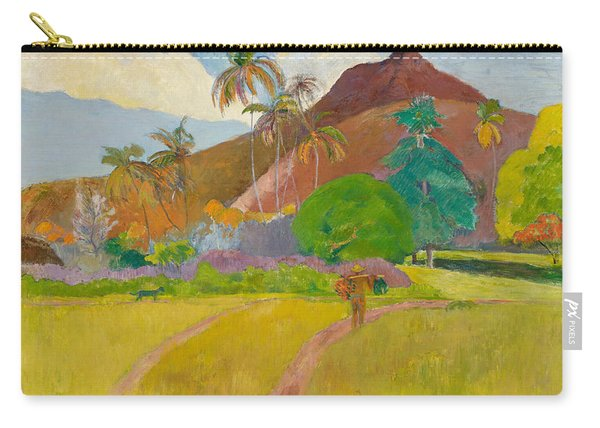 Tahitian Landscape, 1891.  Carry-all Pouch