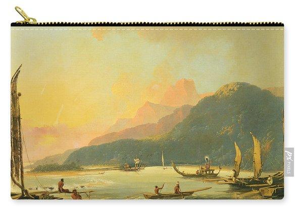 Tahitian War Galleys In Matavai Bay - Tahiti Carry-all Pouch
