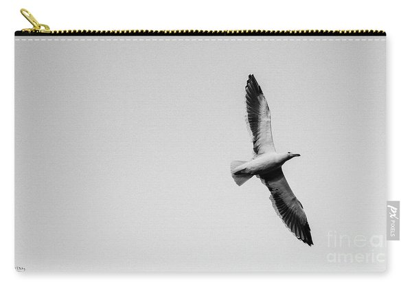 Take Flight, Black And White Carry-all Pouch