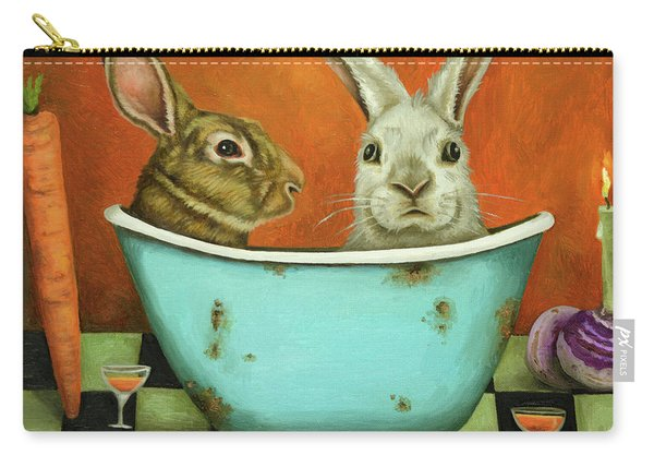 Tale Of Two Bunnies Carry-all Pouch