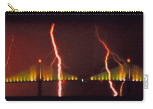 Tampa Bay Lightning Over The Skyway Bridge Carry-all Pouch